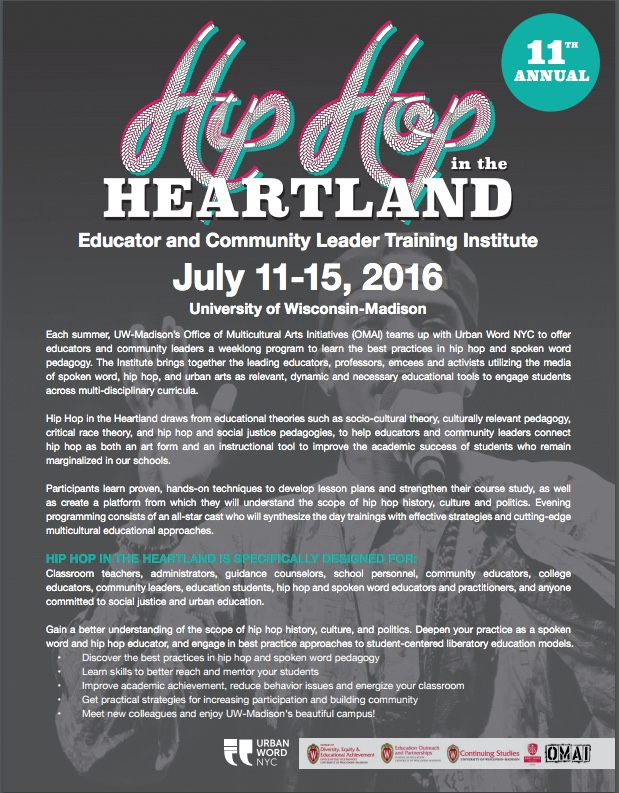 Hip in the Heartland 2016 Poster Page 1